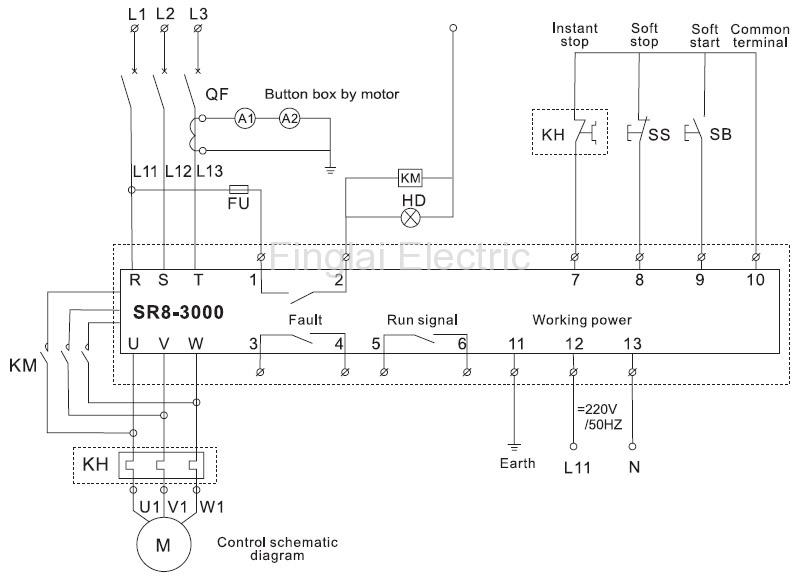 SR8-3000 soft starter wiring diagram