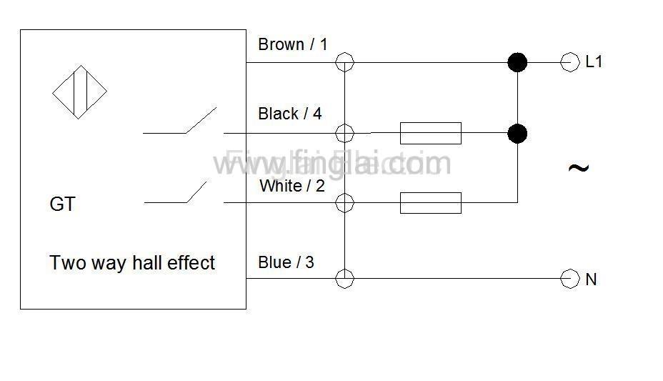 CHE12-10N11-H710 two way hall effect sensor