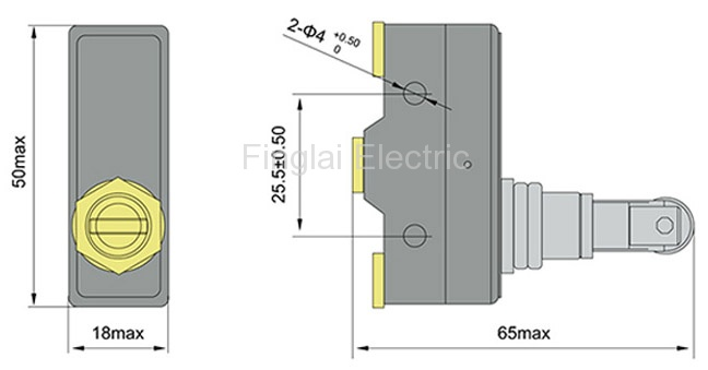 LXW5-11Q1 micro switch drawiing