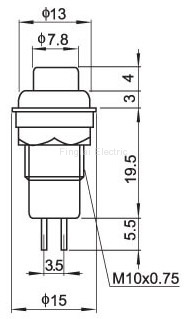 DS-211 push button drawing
