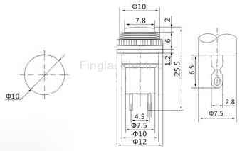 DS-314 push button drawing