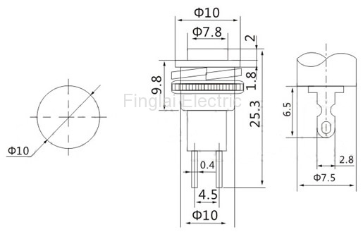 DS-316 push button drawing