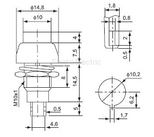 DS-450 push button drawing
