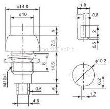 DS-461 push button drawing