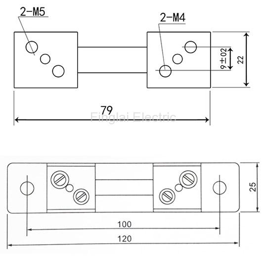 FL-2-75 10-50A current shunt resistor drawing
