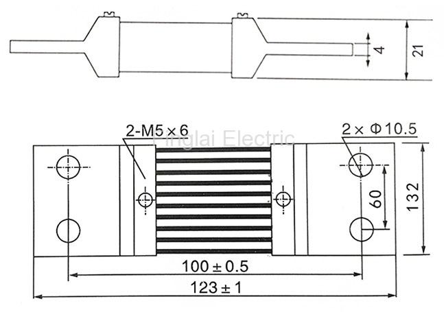 FL-2-75 1500A current shunt resistor drawing
