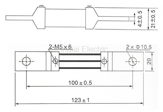 FL-2-75 300A current shunt resistor drawing