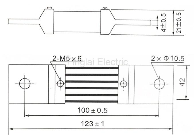 FL-2-75 600A current shunt resistor drawing