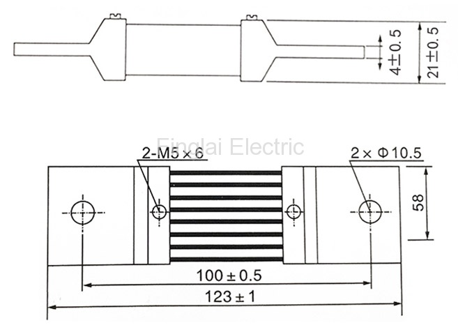 FL-2-75 750A current shunt resistor drawing