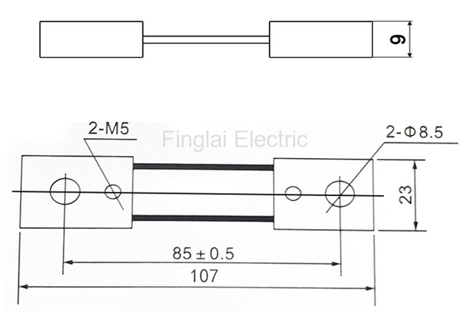 FL-2-75 75-100A current shunt resistor drawing