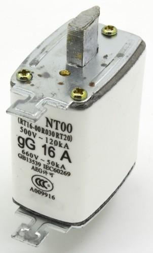 NT00 16A blade ceramic fuse