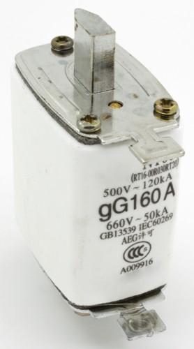 NT00 160A blade ceramic fuse