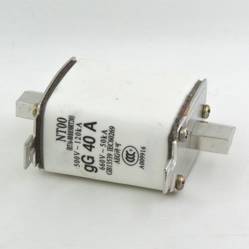 NT00 40A blade ceramic fuse