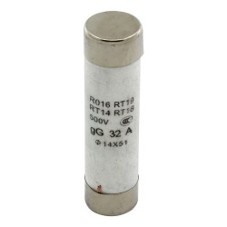 R016 14*51mm 32A 500V fast blow ceramic tube fuse