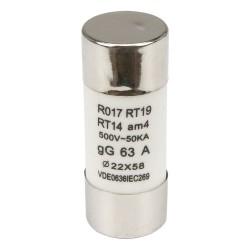 R017 22*58mm 63A 500V fast blow ceramic tube fuse