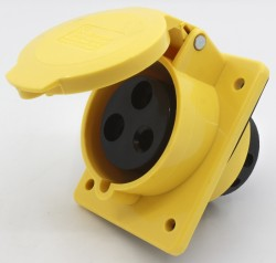 CM1-423-4 industrial flush mounting angled socket