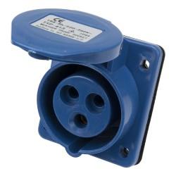 CM1-413 industrial flush mounting angled socket