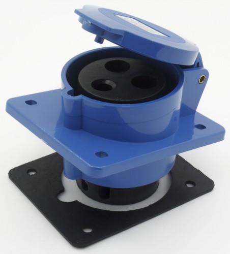 CM1-423 industrial flush mounting angled socket