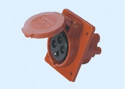 CM1-414 and CM1-424 industrial flush mounting angled socket