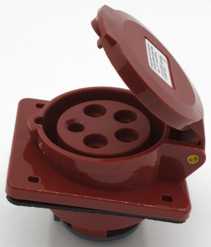 CM1-415 industrial flush mounting angled socket