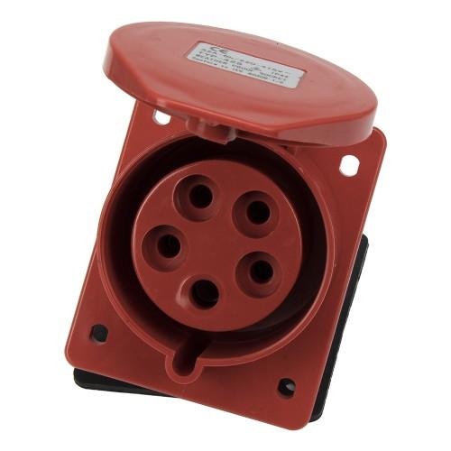 CM1-425  industrial flush mounting angled socket