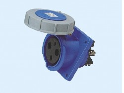 CM1-433 and CM1-443 industrial flush mounting angled socket