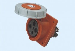 CM1-434 and CM1-444 industrial flush mounting angled socket