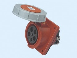 CM1-435 and CM1-445 industrial flush mounting angled socket