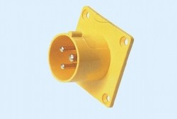 Industrial flush mounting appliance inlets