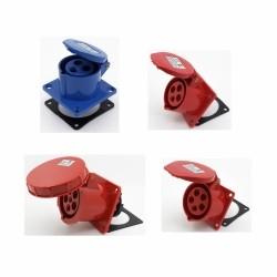 Industrial flush mounting sockets