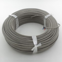 FTARE02 100m 1 roll PT100 RTD extension wire high temperature resistance compensation cable for temperature sensor