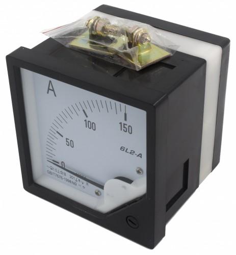 6L2-A150/5 80*80mm current transformer type 150/5A pointer AC ammeter