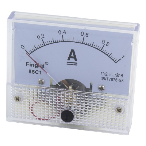 85C1-A 64*56mm DC 1A pointer analog ammeter
