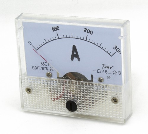 85C1 0-300A DC ammeter need matched shunt