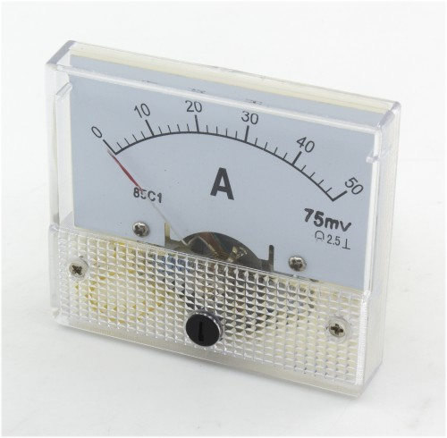 85C1 0-50A DC ammeter need matched shunt