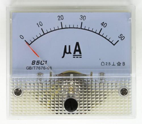 85C1 0-50μA DC Ammeter