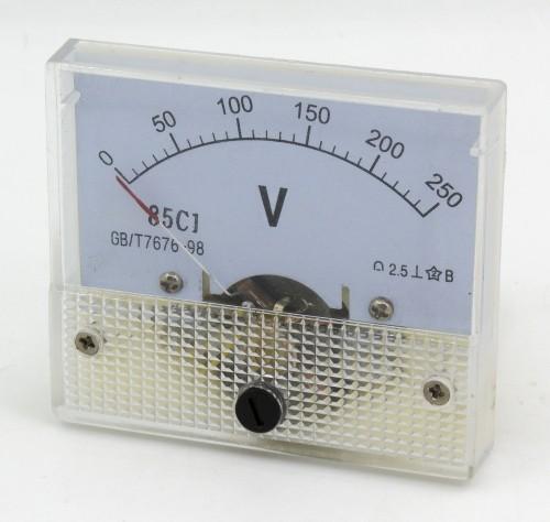 85C1 0-250V DC voltmeter