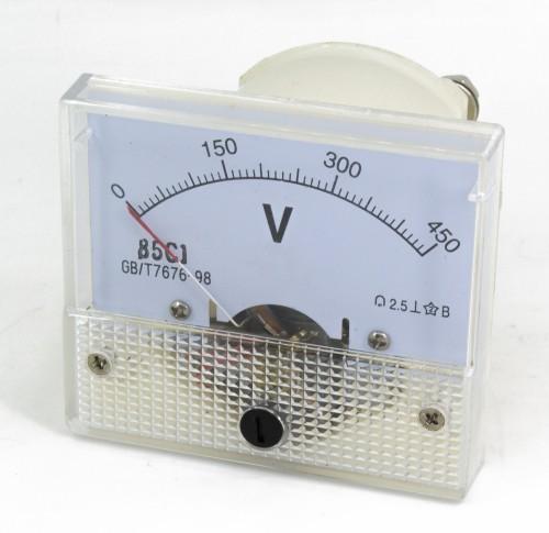 85C1 0-450V DC voltmeter