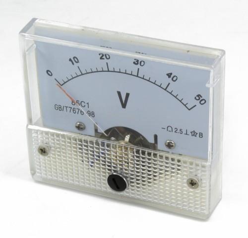 85C1 0-50V DC voltmeter