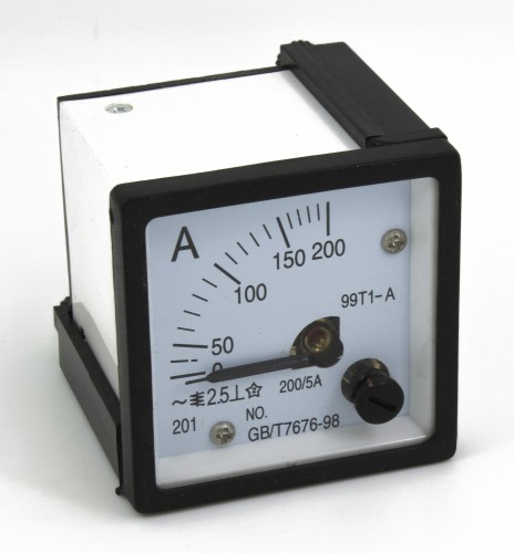 99T1-A200/5 48*48mm 200/5A pointer AC analog ammeter