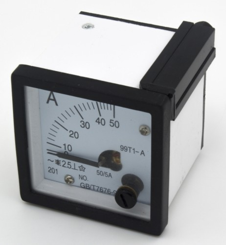 99T1-A50/5 48*48mm 50/5A pointer AC analog ammeter