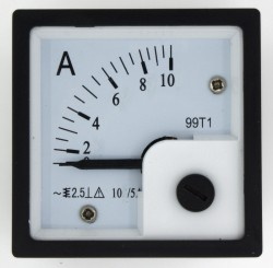 99T1-A 10A current transformer type ammeter with white cover