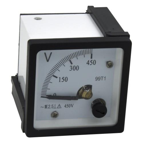 99T1-V450 48*48mm 450V white cover pointer AC analog voltmeter