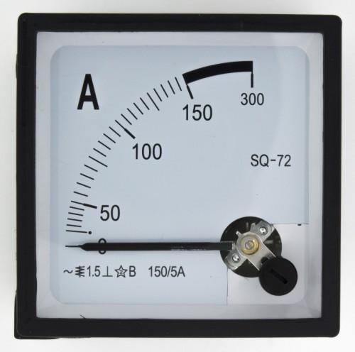 SQ-72-A150/5 72*72mm current transformer type 150/5A pointer AC ammeter