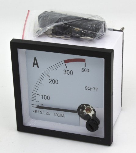 SQ-72 300A current transformer type 72*72mm pointer AC analog ammeter
