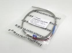 FTARP02 E type 4*30mm polish rod probe 1m high temperature metal screening thermocouple temperature sensor