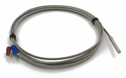 FTARP02 K type 4*30mm polish rod probe 2m usual metal screening cable thermocouple temperature sensor