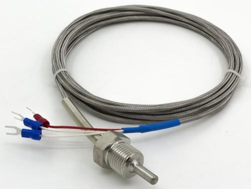 FTARP09-PT100 M16*1.5 thread 5*30mm probe 3m metal cable PT100 temperature sensor