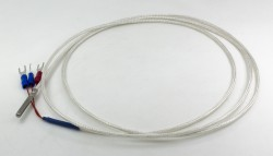 FTARP10 PT100 A grade 4*30mm roller groove probe 1.5m PTFE cable waterproof oilproof anticorrosive type RTD temperature sensor