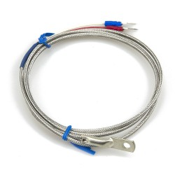 FTARR02 E type 4mm inner diameter cold pressing nose 1m metal screening cable thermocouple temperature sensor